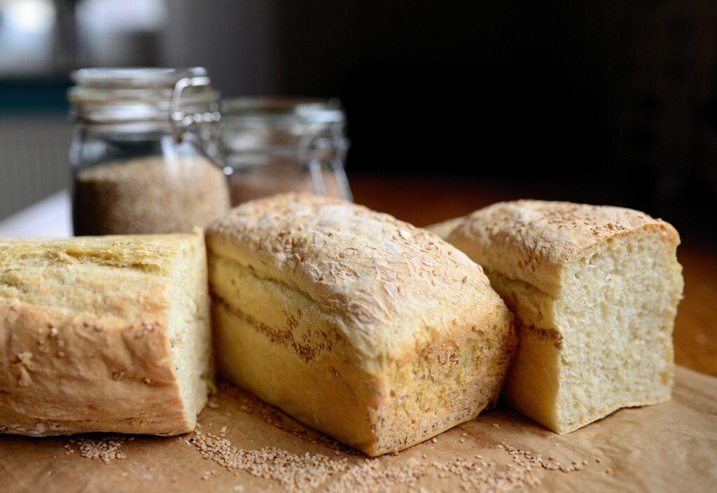 bread, loaf, white bread